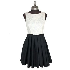 Juniors Lace Skater Skirt Dress Homecoming